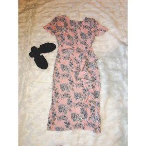 Asos pink floral dress